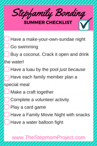 stepfamily bonding checklist