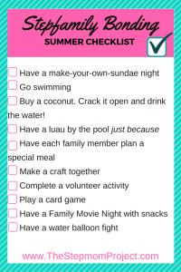 stepfamily bonding checklist