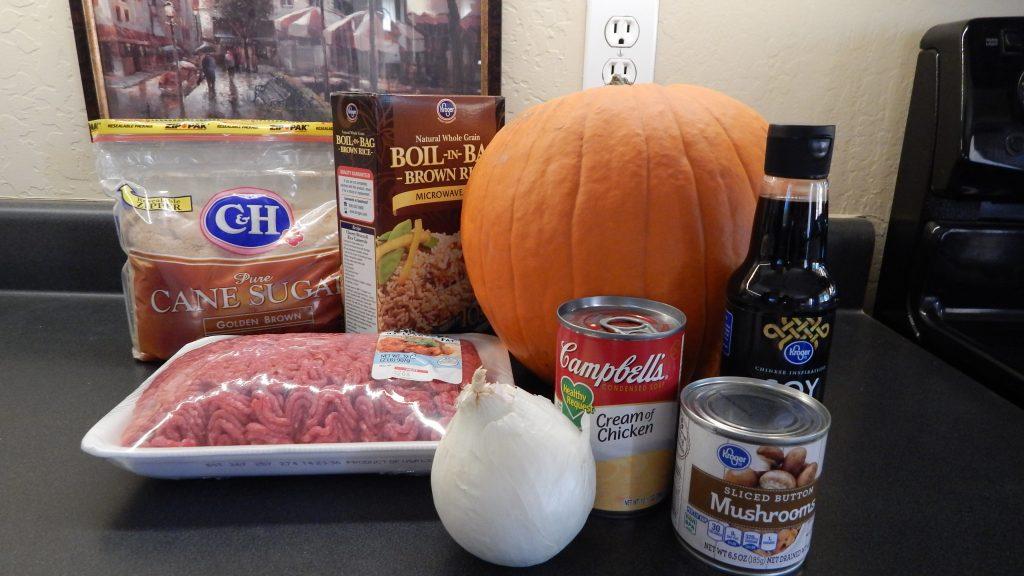 Dinner in a Pumpkin ingredients