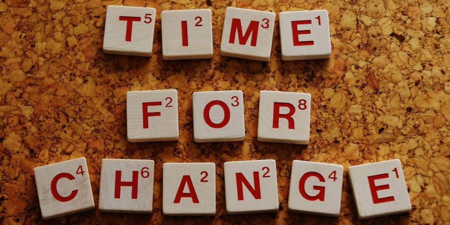 "changes graphic. It says ""Time for a Change"""