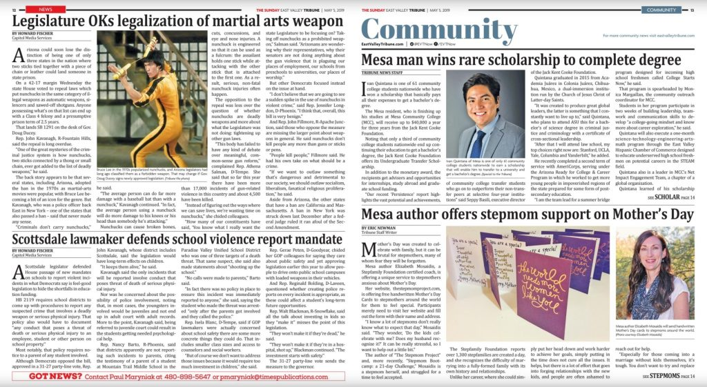 Featured in The East Valley Tribune