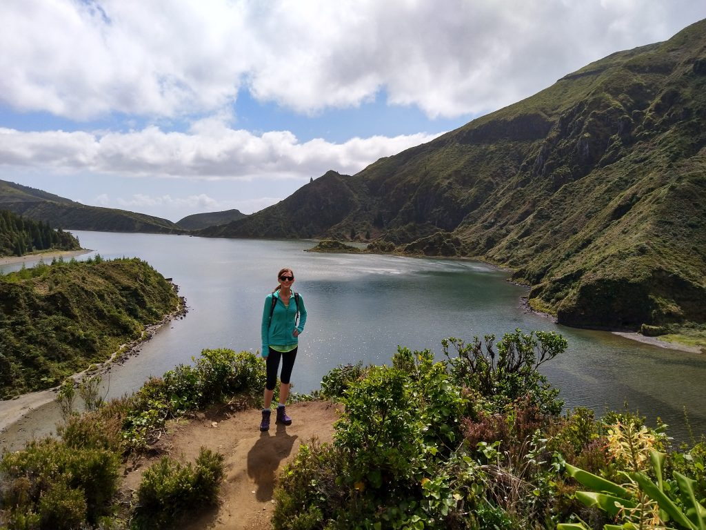 Hiking at Lagoa do Fogo