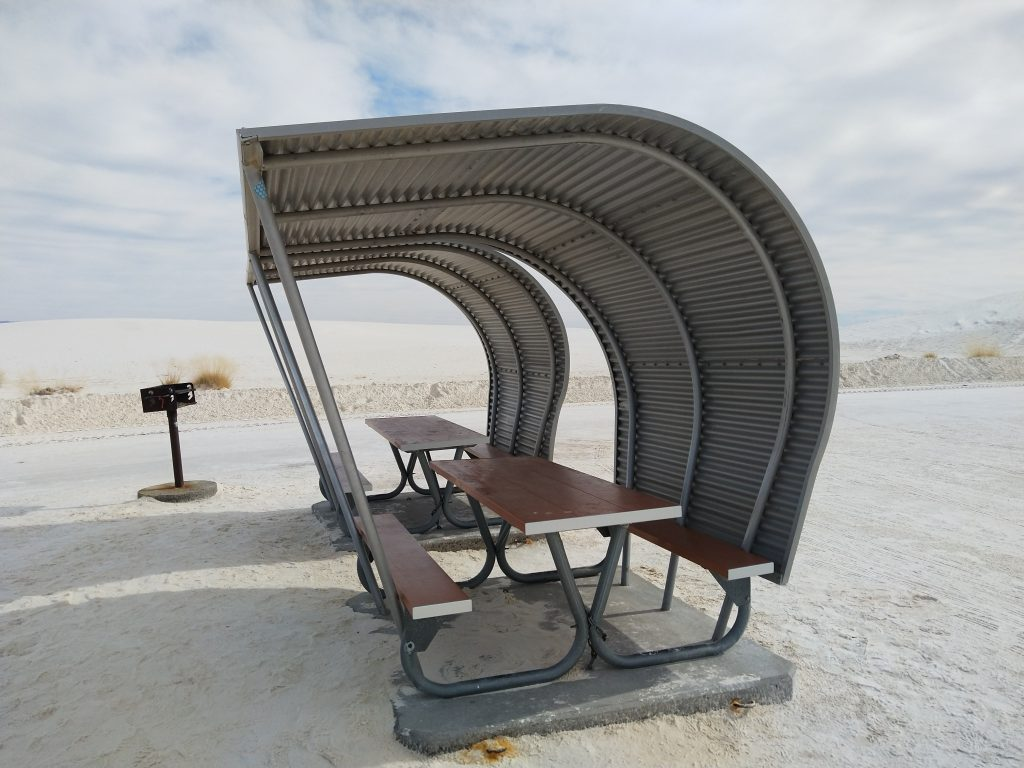 picnic table in White Sands