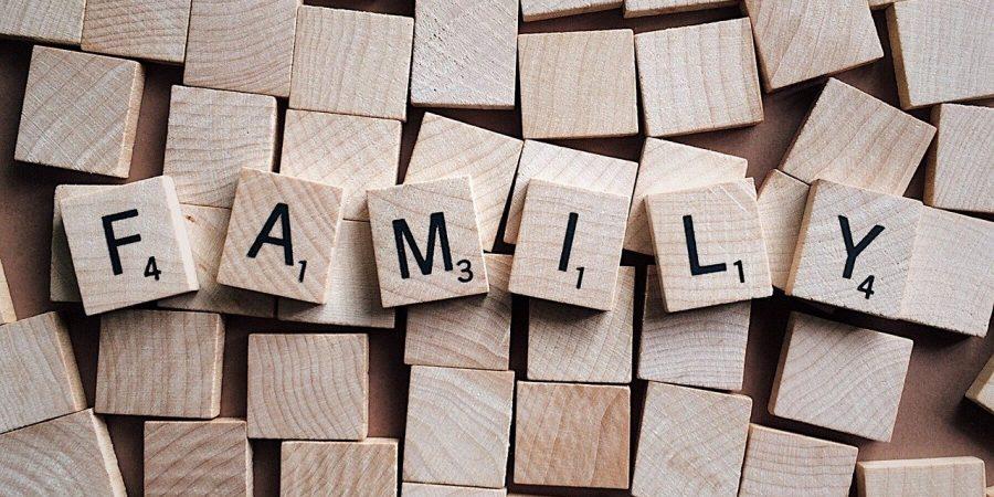 family scrabble pieces