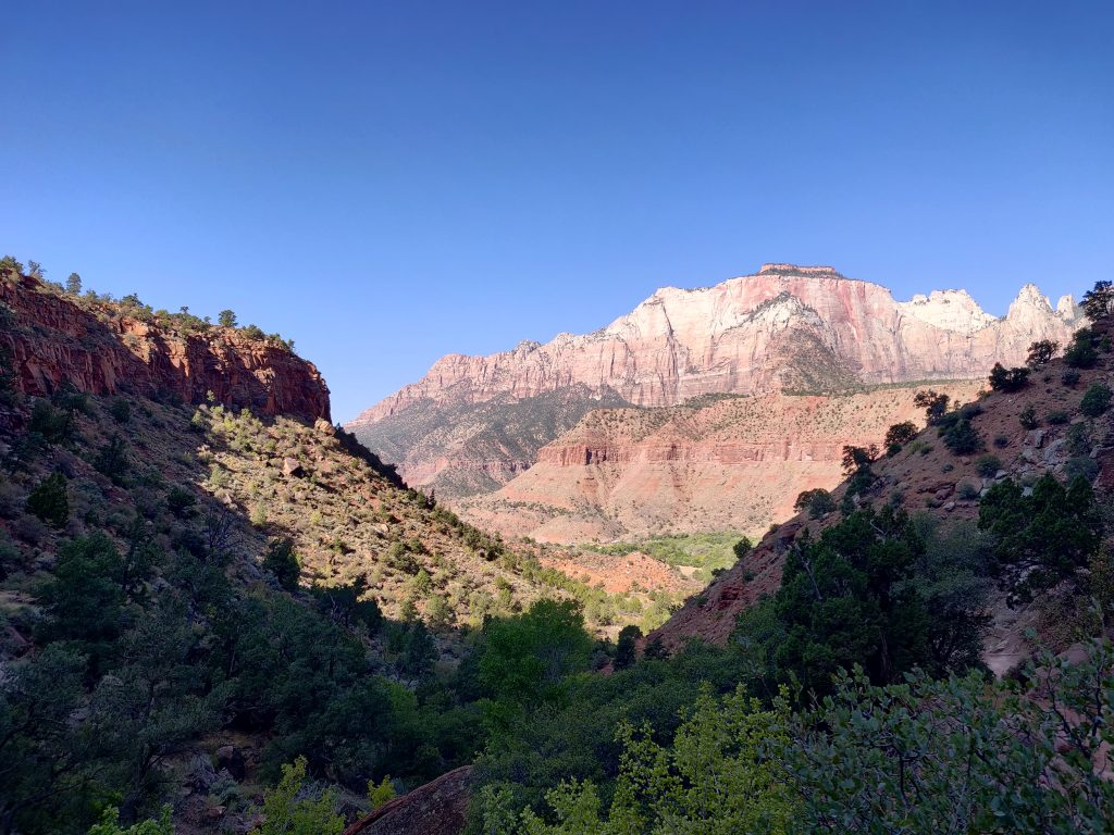 View from Watchman Trail in Zion National Park