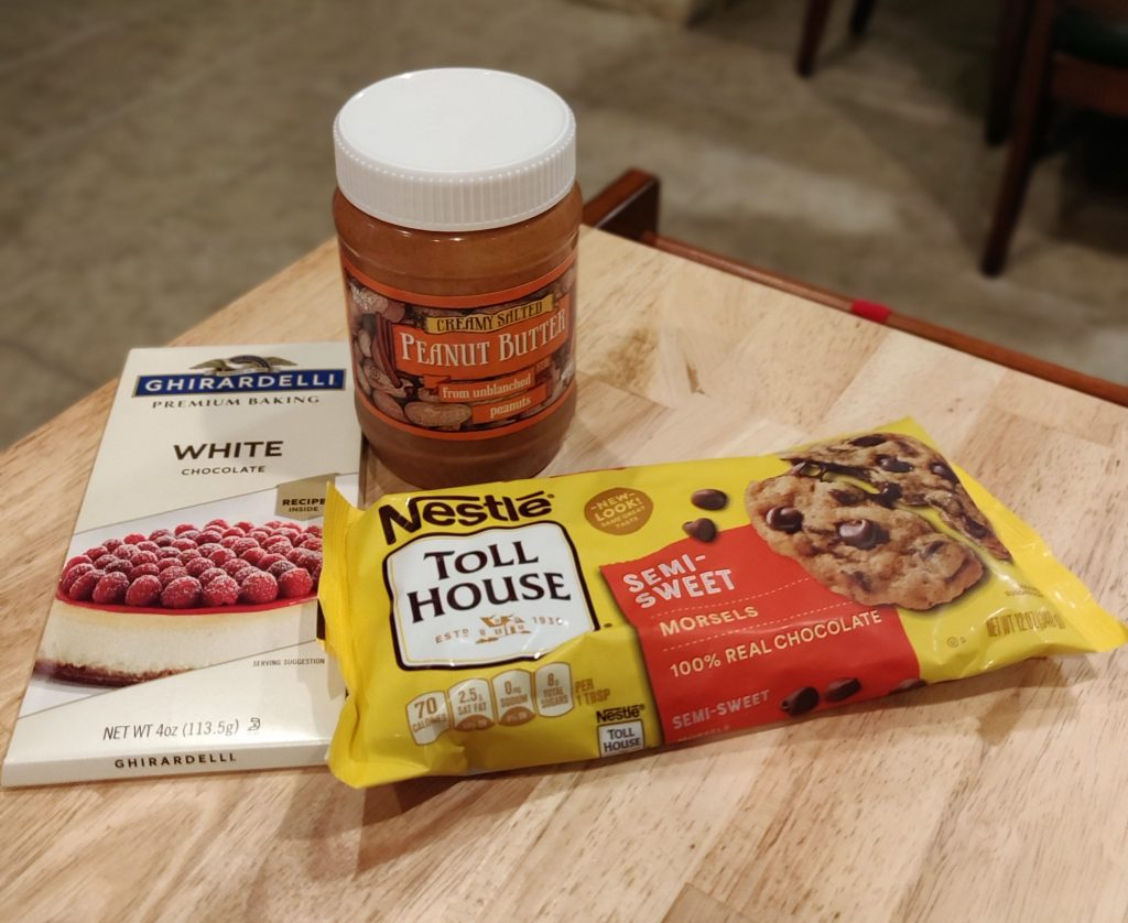 ingredients for peanut butter cups
